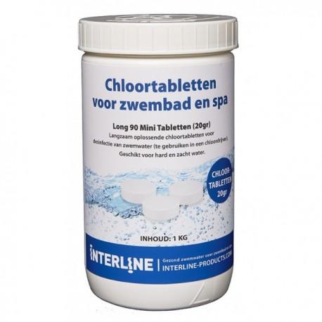 Interline Chloortabletten 1kg - Long90 20gram