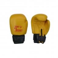 Bokshandschoen (Echt Leder) Kleur Geel/Zwart